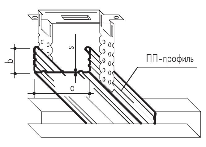 Металлическийпрофиль направляющий потолочный ПН 28х27х0,6мм (3000мм)
