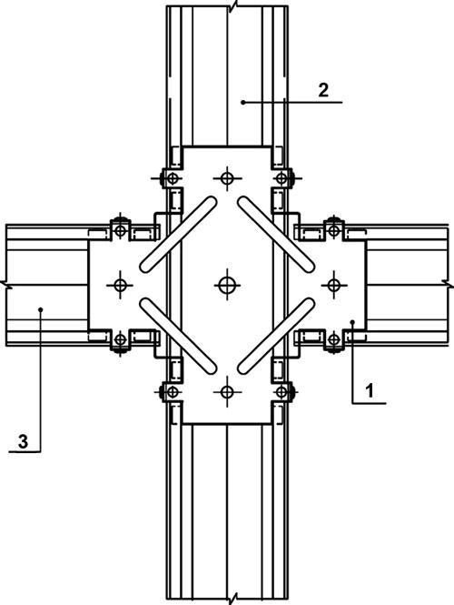 Соединитель одноуровневый для ПП-профилей 60х27 148x56x20 мм