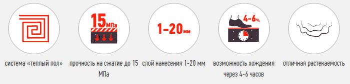 Описание СТАРАТЕЛИ Наливной пол Тонкий 25 кг